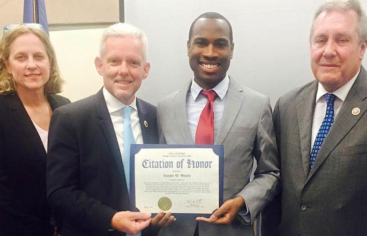 Queens Borough President Recognizes Creative Director Brandon Mosley
